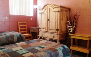 Cabin Bedroom has Three Twin Beds