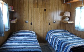 The Trailer has two twin beds